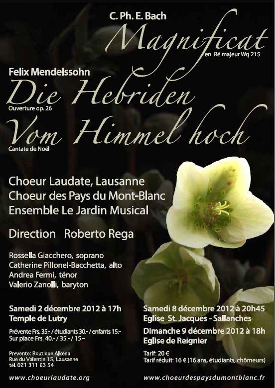 Affiche Concerts décembre 2012
