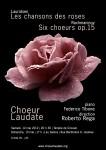 Affiche concert Lauridsen Rachmaninov, printemps 2012, choeur Laudate