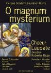 Affiche concerts Noël 2011, O Magnum Mysterium, Choeur Laudate