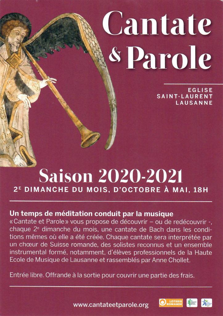 Flyer Cante & Parole 2020-2021